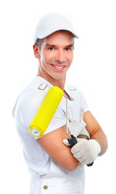 painting contractor smiling